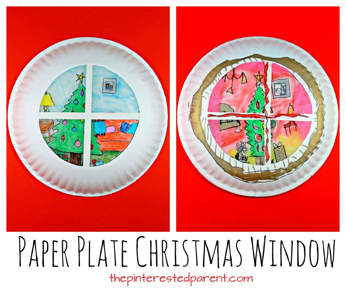 Paper Plate Suncatcher Christmas Window